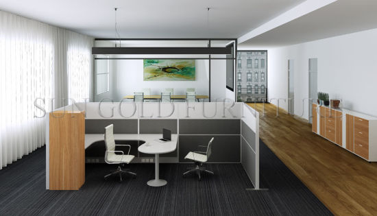 Fancy Office Furniture Simple Cubicle Single Workstation With High Wall