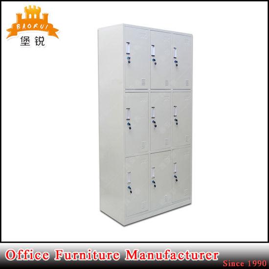 Great Changing Room 9 Door Metal Locker Box With Locks And Keys