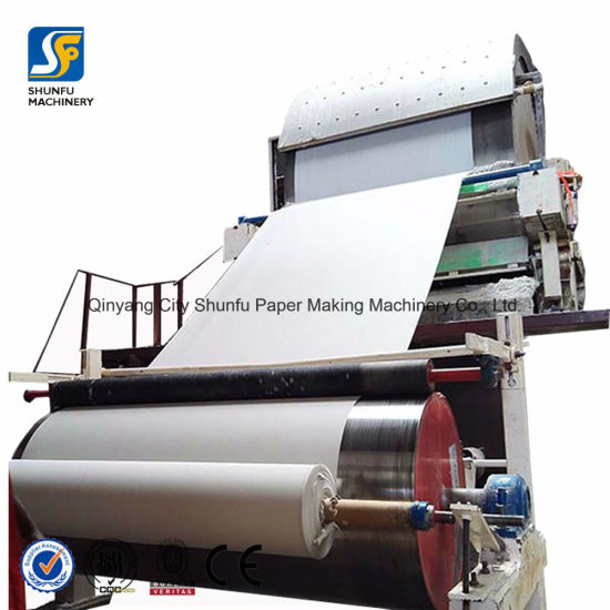 Toilet Tissue Paper Machines with 1 Ton Capacity Paper Production Line pictures & photos