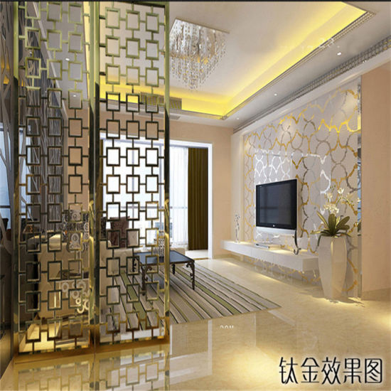 Customized Color Screen High Grade Stainless Steel Laser Cut Metal Partition  Screens For Hotel Living Room