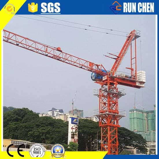 Hot Sales D5522-10t 10t Load Luffing Tower Crane with 55m Boom Length for Building Construction Site