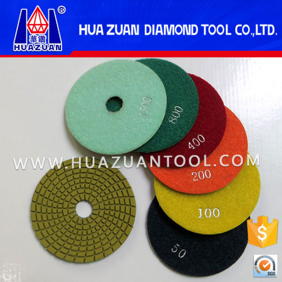 "New Arrival 4"" Wet Polishing Pad on Hot Sale pictures & photos"