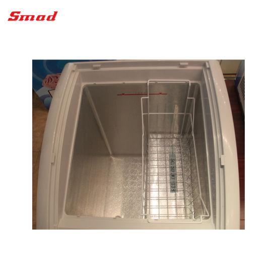 Supermarket Mini Curved Glass Door Display Chest Freezer