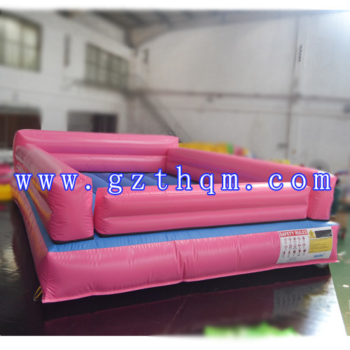 Indoor Adult Sports Inflatable Air Track PVC Pink Cushion Track pictures & photos
