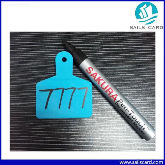 Plastic Material Animal Ear Tag Mark Pen