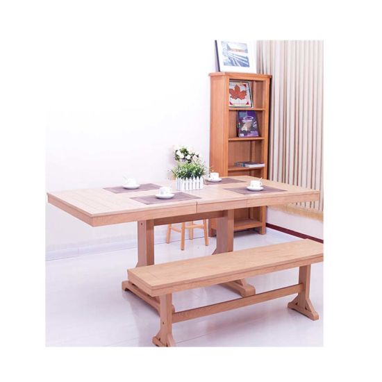 Oak Folding Table Home Furniture with Chair or Bench pictures & photos
