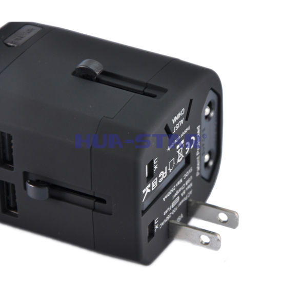 Professional Customized Travel Adapter with USB Charger (HS-T107DU) pictures & photos