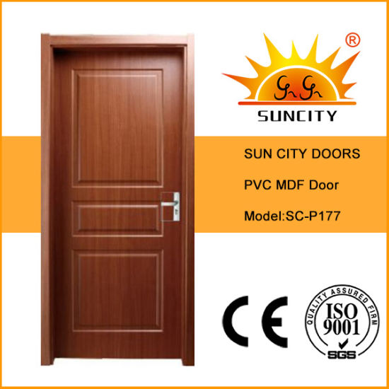 Interior Bathroom Solid PVC Wood Door (SC-P177) pictures & photos