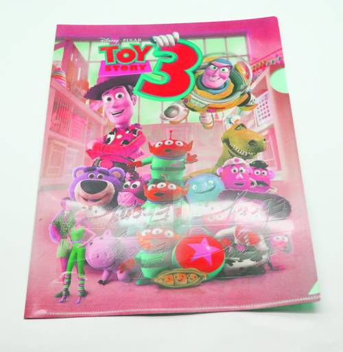 Wholesale Custom UV Printing Clear PP File Folder, L Shape PP File Folder, A4 Clear Folder for Office Stationery