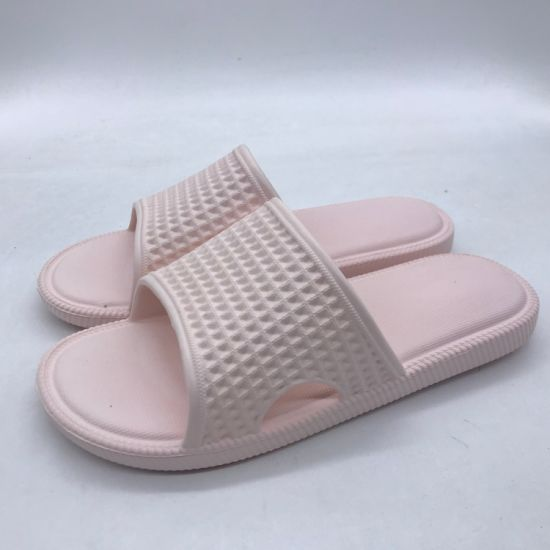 Newest Design Lady Waffle Upper EVA Non-Slip Slipper Fy0705-1 pictures & photos