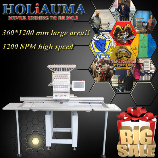 Holiauma One Head Big Size Embroidery Machine Computer Embroidery Machine Price for Happy Brother Business