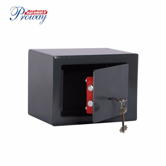 Security Safe Box with Key Lock Protect Deposit, Jewelry, Passports-for Home, Business or Travel