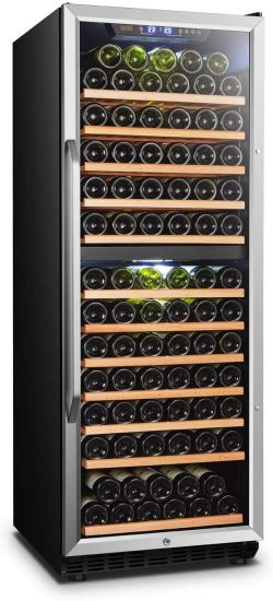 Built-in Dual Zone Wine Cooler Refrigerator with Safety Lock, 138 Bottle