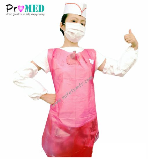 CE Approved Disposable Waterproof Restaurant/Hotel/Food service PP/NONWOVEN/PE/CPE/PLASTIC Apron