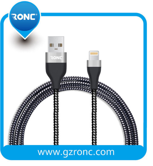Wholesales 1m Nylon Braided USB Data Cable for Mobile Phone