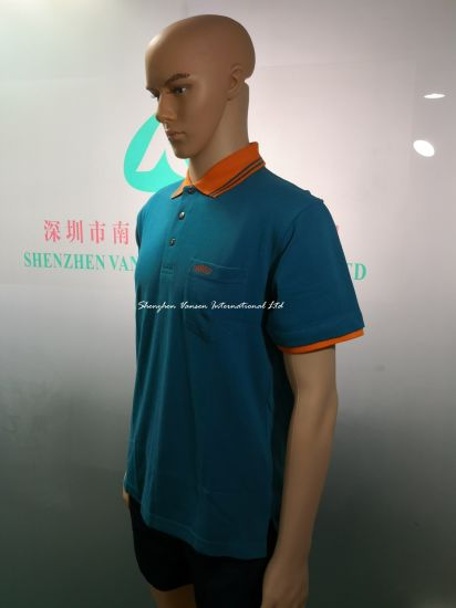 100% Combed Cotton Embroidery Polo Shirt with Pocket for Male pictures & photos