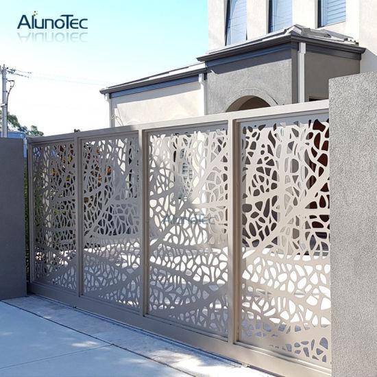 Laser Cut Room Divider Decorative Fence Panels Aluminum Metal Screen Partition