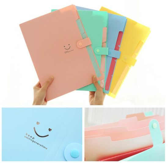 A4 Paper Expanding File Folder Pockets Accordion Document Organizer pictures & photos