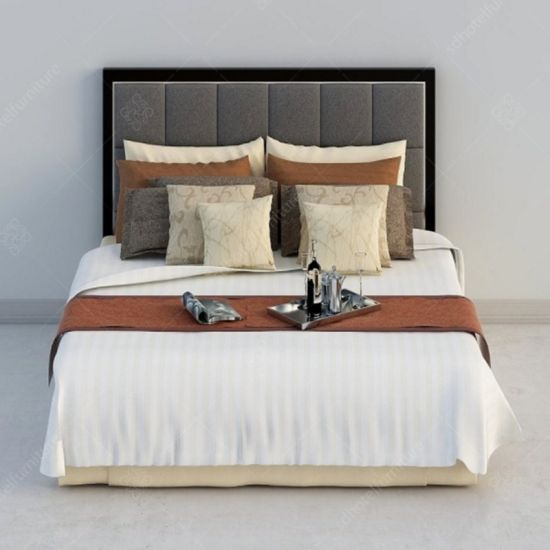 China Hotel Bedroom Furniture Bed Frame And Headboard Sets For Sale