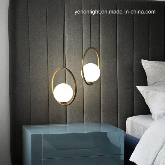China Suspension Glass Pendant Lighting Simple Bedroom ...