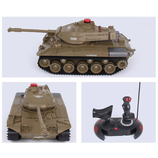 Plastic Toys 1: 30 Infrared Shooting Military Battle RC Tank