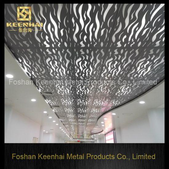 Acoustic Clip In Artistic Aluminum Hanging Suspended Ceiling Kh Mc 09