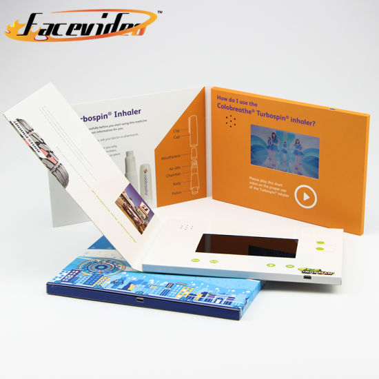 China facevideo lcd screen video brochure business card with facevideo lcd screen video brochure business card with brochure printing reheart Images