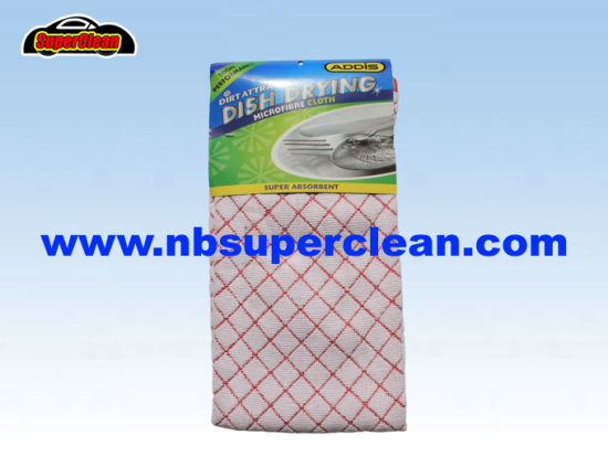 Supermarket Sell Kitchen Microfiber Cleaning Cloth (CN3633)