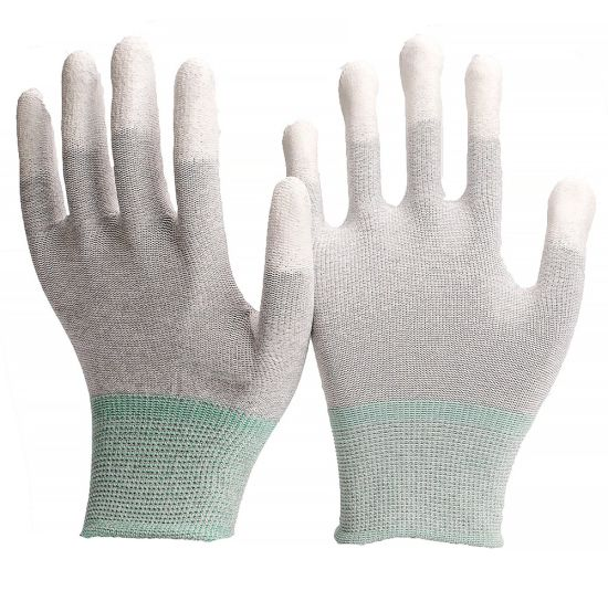 13G ESD Liner with PU Palm Coated Safety Protective Work Gloves with High Quality
