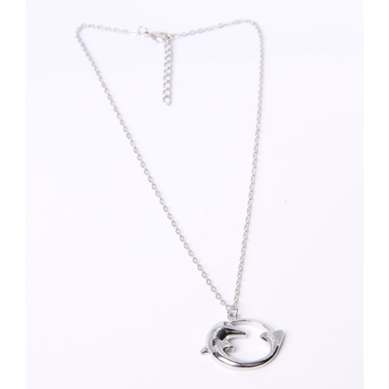 Promotional Fashion Jewelry Pendant Alloy Necklace with Dolphin