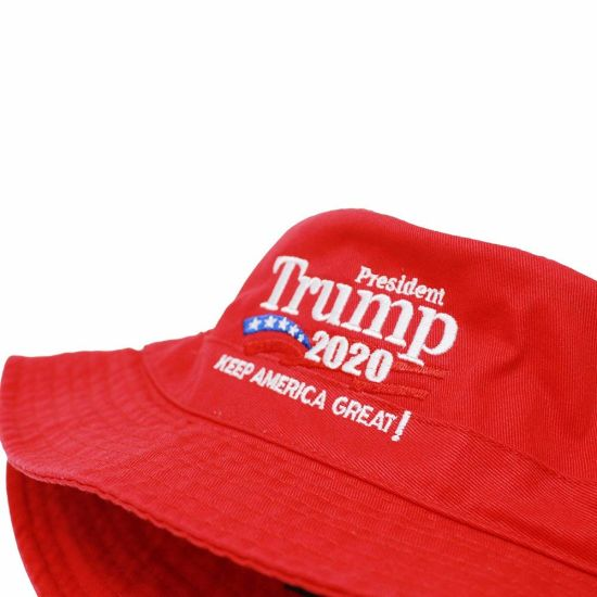 Custom Red Classic Six-Panel Cotton Trump Embroidered Logo Hat for Man Women 97bef6ddcae