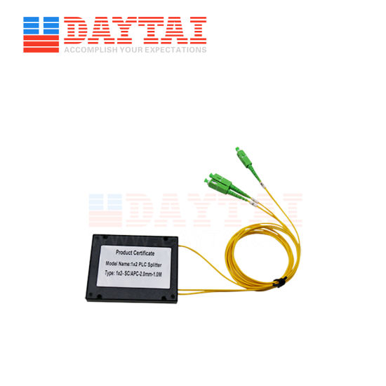 ABS Box Type Fiber Optic 1X2 Optic PLC Splitter