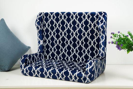Classic Black and White Plaid Sofa Fabric