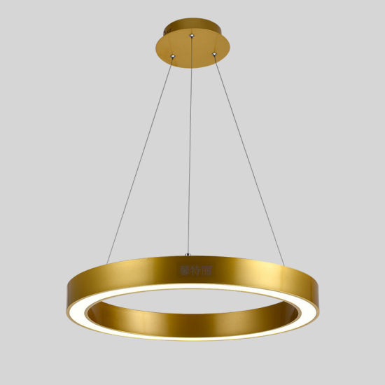 Stainless Steel Bronze Golden Color LED Ring Pendant Light pictures & photos