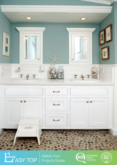 Hot Sale Old Antique Style Design Modern PVC/Lacquer Bathroom Cabinet Bath Vanity with Mirror