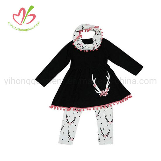 OEM ODM 100% Cotton Little Girl Outfits Children Clothing pictures & photos