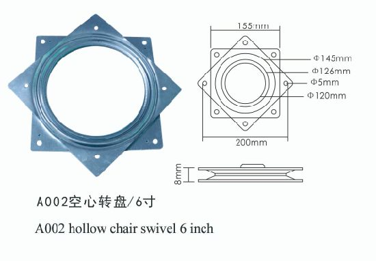 Super Odm Oem 6 Inch Iron Bearing Rotation Turntable Hollow Ball Bearing Swivel Plate A002 Pabps2019 Chair Design Images Pabps2019Com