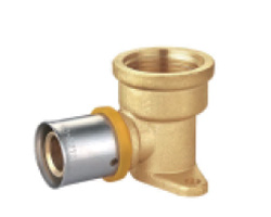 Pex Crimp-on Fittings Wallplate Elbow for Water & Gas