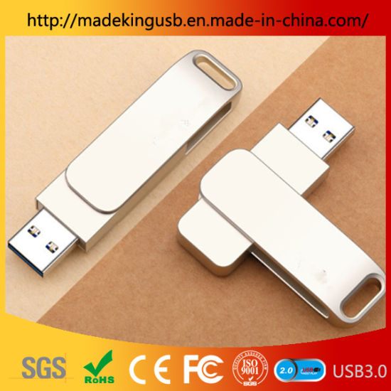2019 Creative New Design Rotating Metal USB Flash Drive/Pen Drive