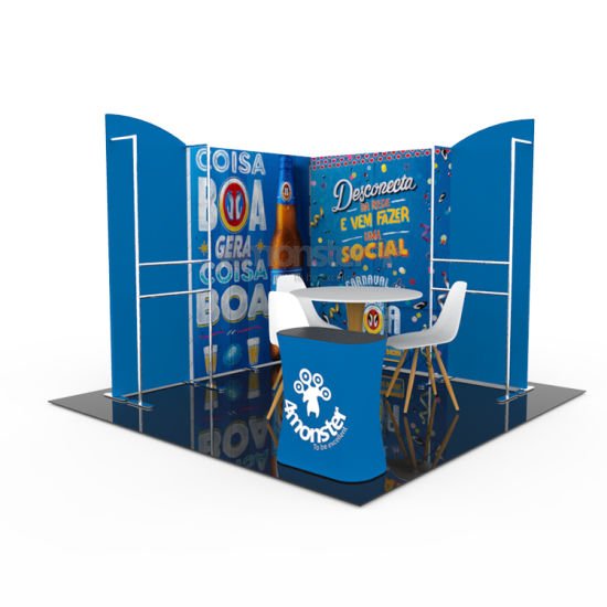 Popular Tension Fabric Fair Display Customized Trade Show Booth 10X10