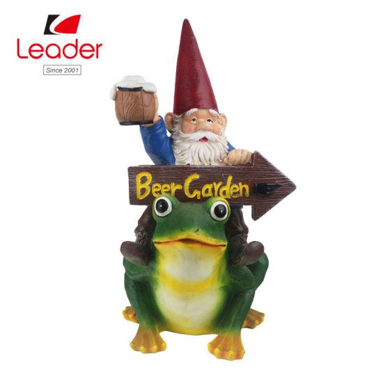 China Por Resin Garden Scary Gnome