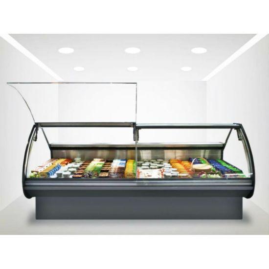Quality Guaranteed Serve Over Display Fridge Meat Refrigerator Freezer