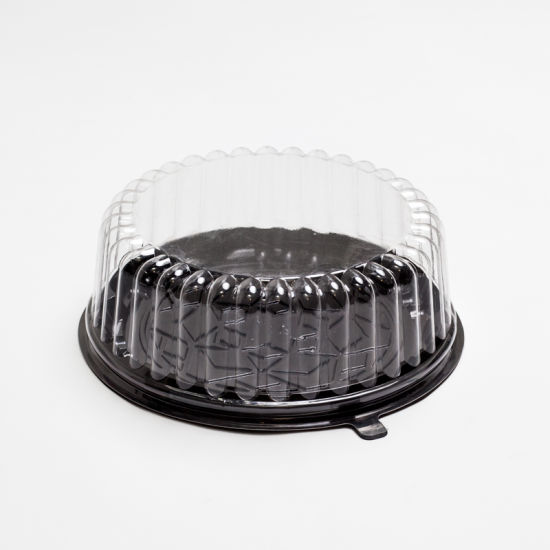 Plastic Food Grade Cake Packaging Round Box with Lid
