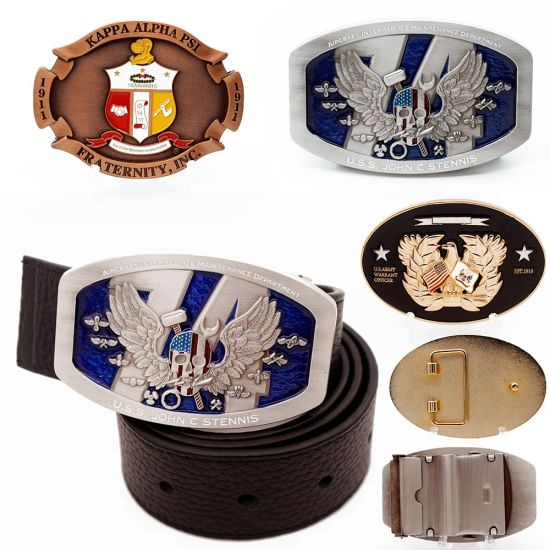 Manufacturers Bulk Personalized Custom Logo 3D Army Men Name Military Brass Metal Buckle Wholesale Cowboy Flag Women Simple Gold Leather Souvenir Belt Buckles