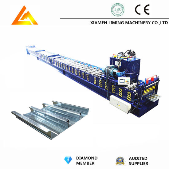 Full Automatic Galvanized Steel Decking Floor Roll Forming Machine Making Machine Factory Price with ISO9001/Ce