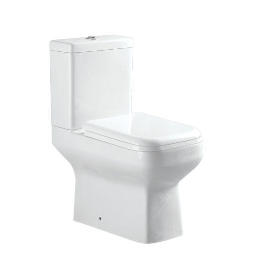 8130 White Washdown Two Piece Toilet, Square Design, Water Closet