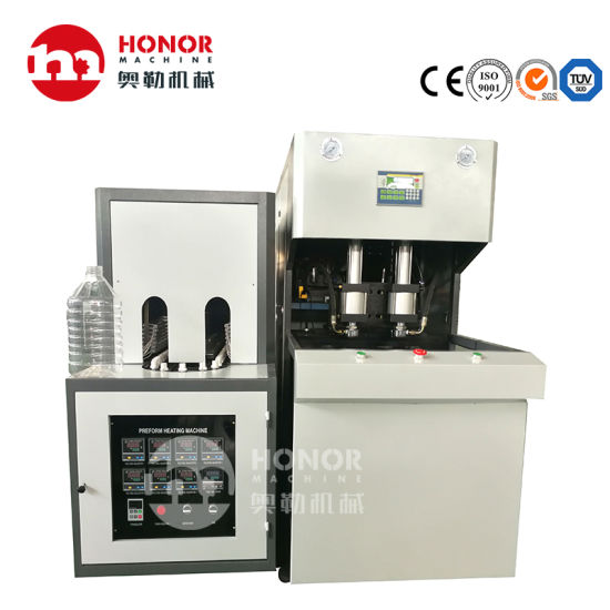 0.2L 0.5L 1L 1.5L 2L 3L 5L 10L 20L Semi Automatic 2000bph Plastic Pet Bottle Water Juice Carbonated Drink Oil Bottle Making Blow/Injection Molding Machine