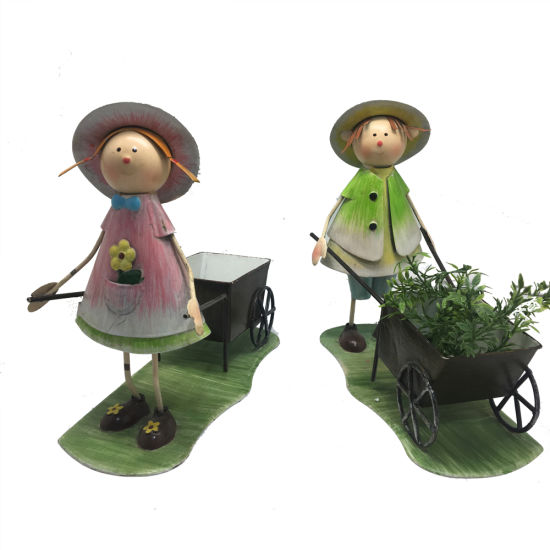 Cute Boys and Girls Flower Pot Animal Metal Succulent Green Plants Holder Container for Home Garden Bonsai Pots Birthday Decoration