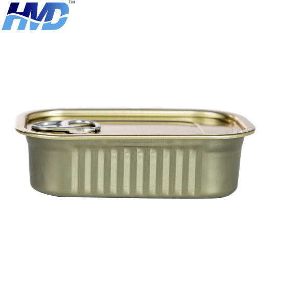 Custom Tuna Fish Seal Square Food Ring Pull Tin Can Food Canning Can Packing