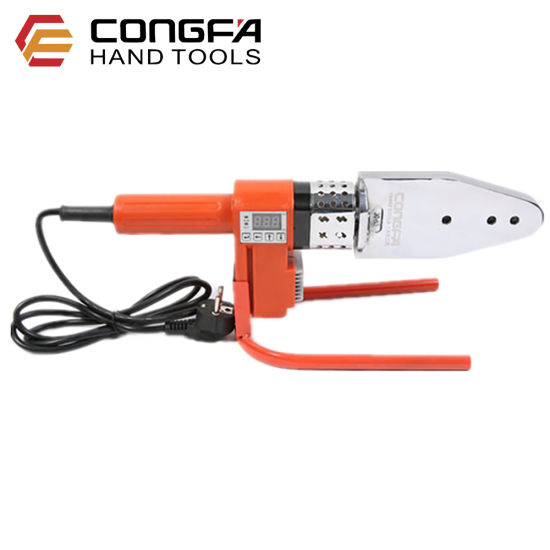 220V+Voltage converter 20-63mm Plastic Water Pipe Welder PP//PP-R//PE//PP-C Pipe Welding Machine Tool Pipeline Construction Equipment with Digital Readout